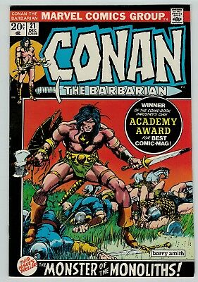 Conan the Barbarian 21 Marvel Comics Bronze Age 1972 Barry Smith Roy Thomas