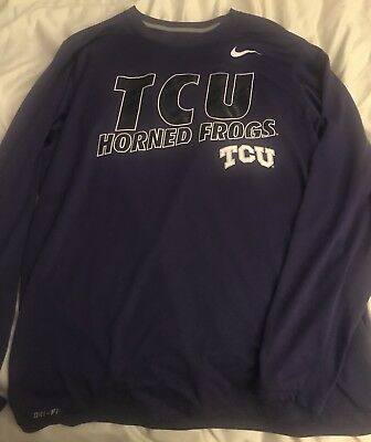 TCU Texas Christain Horned Frogs Nike Dri Fit Long Sleeve - Men's Medium