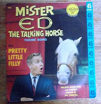 "Mr. Ed The Talking Horse Theme Song/Pretty Little Filly 45"" Single"