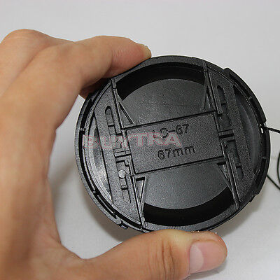 67mm Center Pinch Snap on Front Cap For Sony Canon Nikon Lens Filters 67mm UQ