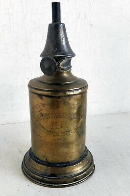 Antique French Brass Pigeon Lamp: Non-Exploding Oil Lamp (8311)