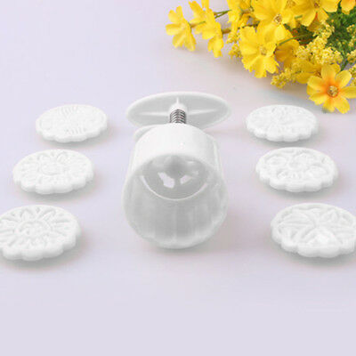 50g 6 Flower Stamps Pastry Moon Cake Mold Mould Cookies Mooncake DIY Decoration