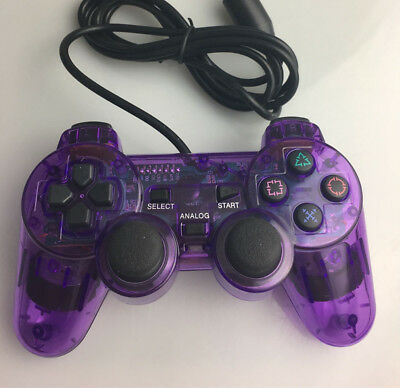 New purple Dual Shock Wired Controller Joypad Gamepad for PS2 Play Station 2 AU