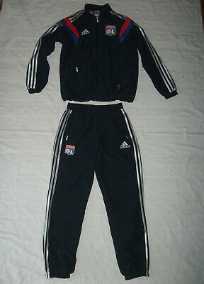 OL Olympique Lyon adidas team survêtement tracksuit boys L Large mens XS 164cm