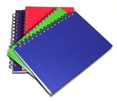 4 x A5 Bright Coloured Notebooks Feint Ruled 200 Pages Assorted Cumberland 77352