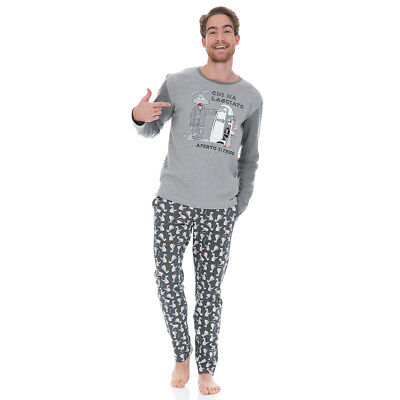 Pigiama uomo Pingu di Happy People in Caldo cotone 4334 T203