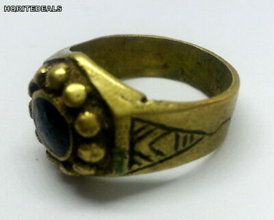 NICE ROMAN RING Bronze Medieval Antique Jewelry Ancient Engraved 17th  Century