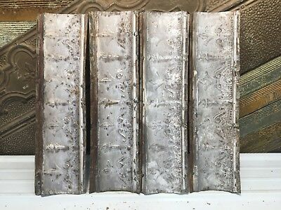 "4pc Lot of 24"" by 6"" Antique Ceiling Tin Vintage Reclaimed Salvage Art Craft"