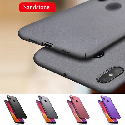 For Xiaomi F1 A2 Lite Max 3 Mix 2S 8Se Case Shockproof Hard Back Sandstone Cover