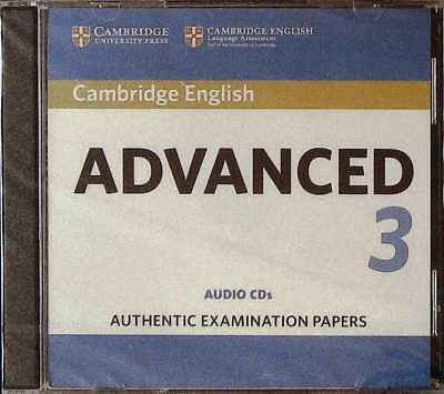 Cambridge ENGLISH ADVANCED 3 Audio CDs (2) Authentic Examination Papers 2018 NEW