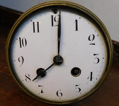 a convex french striking clock movement