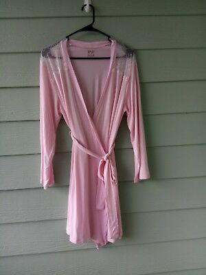 """Pip & Vine By Rosie Pope Maternsity Lace Robe L.Pink Long  Sleeve Length-32"""""""