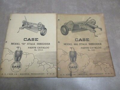 Set of 2 Case Model H & 680 Stalk Shredder Parts Catalogs No. C513 & No. 589