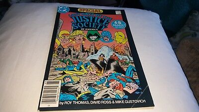 Last Days Of The Justice Society Of America Special #1 1986 F/vf