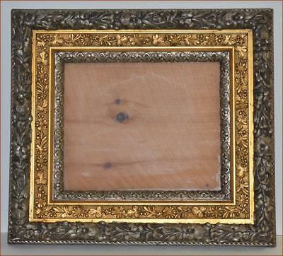 SUPERB 19th CENTURY WOOD  GESSO SILVERED & GOLD ORNATE FRAME EXCEPTIONAL EXAMPLE