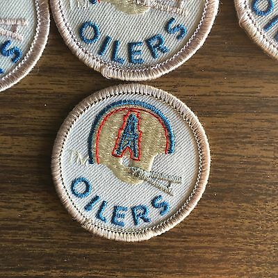 Lot Of 2 Pcs Vintage Nfl Patches Houston Oilers