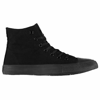 Lee Cooper Canvas Hi Top Shoes Mens Gents High Laces Fastened