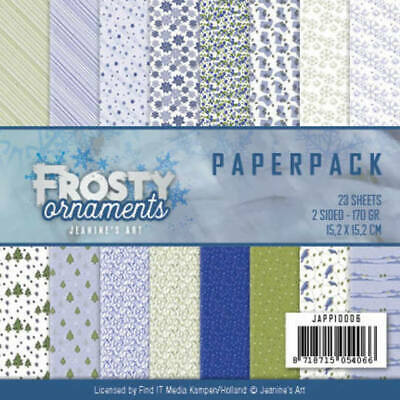 Paperpack - 15,2 x 15,2cm - Jeanines Art - Frosty Ornaments – 170gr -