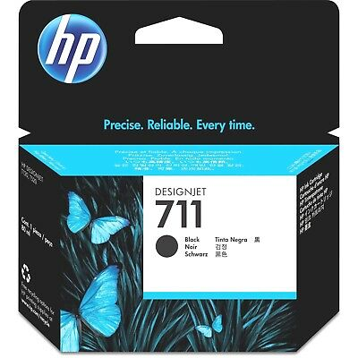 New Genuine HP 711 38-ml Black Ink Cartridge EXP OCT 2019 CZ129A