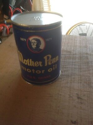 "VIntage MOTHER PENN MOTOR Oil Can Gas Oil ""Air Can""? Advertising Petroliana A"