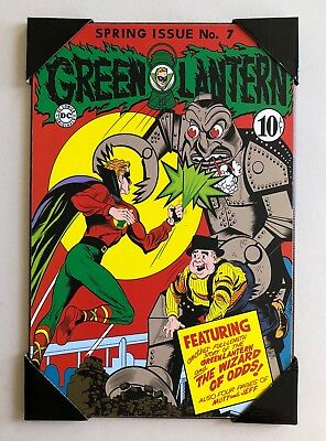 "DC Green Lantern #7 ""The Wizard of Odds"" Comic Cover Wooden Wall Art 13"" x 19"""