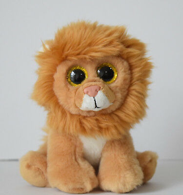 "d95d09f147e 6"" TY BEANIE Baby LOUIE the LION With Brown Glitter Eyes -  7.99 ..."