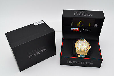 Invicta Marvel Punisher Speedway Viper Chrono Gold Limited #50 52mm Watch New