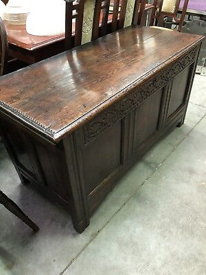 Antique Oak Coffer Superb Condition