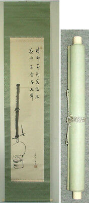 "Original Japanische Hängerolle ""Sunken hearth"" Hanging Scroll Teezeremonie"