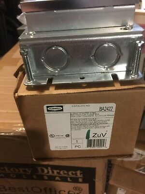NEW Floor Box,Steel and Aluminum,2-Gang HUBBELL WIRING DEVICE-KELLEMS BA2422