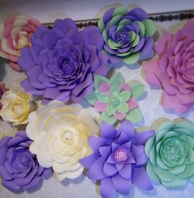 Large Paper Flower Backdrop Wedding Paper Flowers Wall Fake Flowers