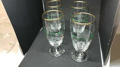 Irish coffee Goblets with green Shamrock and gold trim