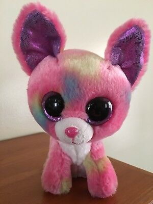 Ty Beanie Boo Duchess Plush Toy Dog Puppy Chihuahua Pink Justice