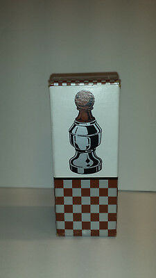 AVON CHESS PIECE - The Pawn II Avon Spicy After Shave 3 0Z GLASS FULL BOTTLE