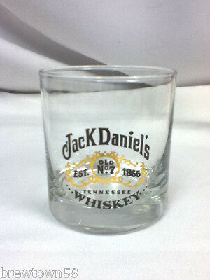 Jack Daniel's Tennessee whiskey bar glass cocktail Old No. 7 1866 glasses 1 FM3