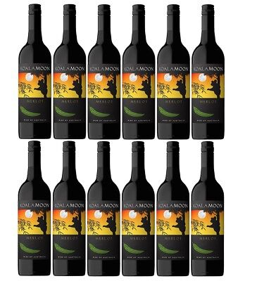 RRP $199!  Koala Moon Merlot Red Wine Case 2016 (12x750ml) Fast & Free Shipping