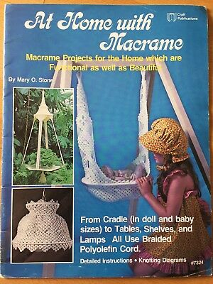 At Home with Macrame 10 Amazing Projects  - L@@K   AS NEW