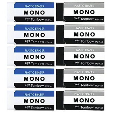 Tombow Pencil eraser MONO PE01 2-color 10 JCA-063AZ F/S w/Tracking# Japan New