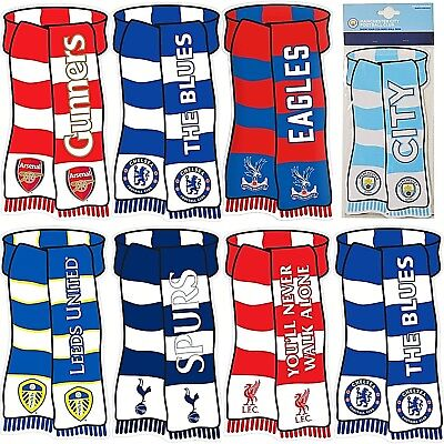 Football Club Fc Show Your Colours Metal Scarf Bedroom Window Door House Sign