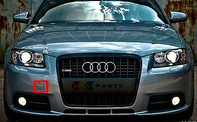 AUDI A3 8P 03-08 NEW FRONT BUMPER TOW HOOK EYE COVER PAINTED BY YOUR COLOUR CODE