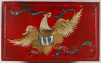 Antique Toleware Tin Box Eagle E Pluribus Unum Unity Signed Kissel Vintage