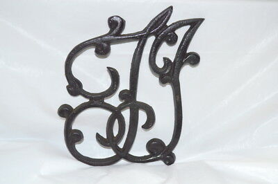 "Vintage/Antique Cast Iron ""T.J."" Thomas Jefferson Trivet - Stamped #3"