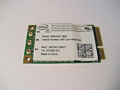 Intel®Wireless Wifi Link 4965 AGN MM2 Modul Wireless Card
