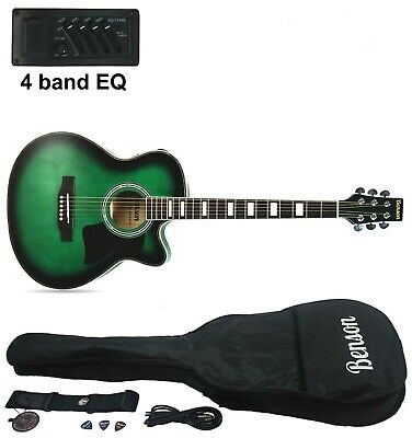 Brand new Benson Electro electric acoustic guitar (Slimline Orleans Green)