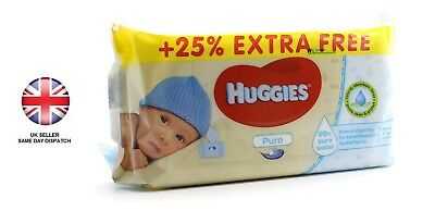 Huggies Pure Baby Wipes 72 Wipes - Free & Fast Delivery