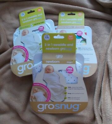 Baby - GROSNUG - 2 in 1 Swaddle and Newborn GROBAG - Various - 5-12 lb - New
