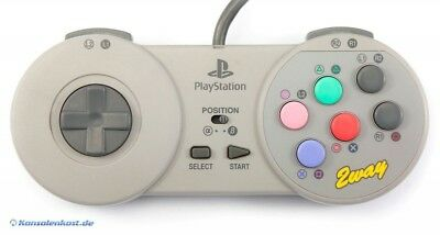 PS1 - controller / Pad #grigio Fighting Commander 2 Way / HPS-08 [Hori] usato