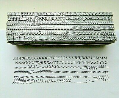12 point BEMBO ITALIC 3A Letterpress Metal Printing Type