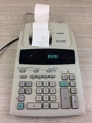 Casio Dr 210hd Printing Calculator Tax And Currency Exchange Adding Machine