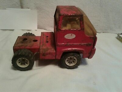 Vintage Red Mighty Tonka Children's Semi Truck Cab Toy